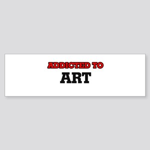 Addicted to Art Bumper Sticker