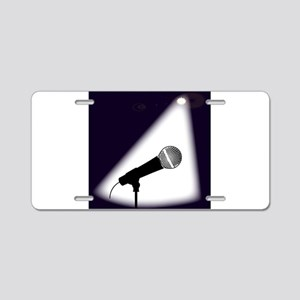 Live on Stage Aluminum License Plate