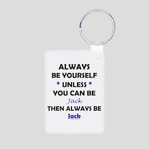 Be Jack Aluminum Photo Keychain