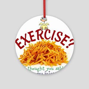 Exercise Round Ornament