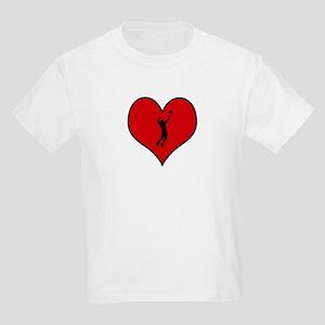 I heart Mens Volleyball Kids Light T-Shirt