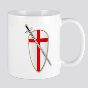 Crusaders Shield and Sword Mugs