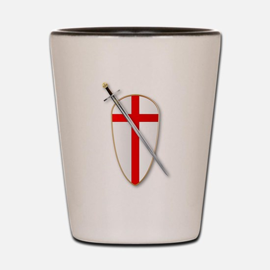 Crusaders Shield and Sword Shot Glass