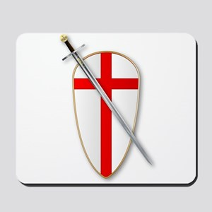 Crusaders Shield and Sword Mousepad
