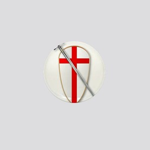 Crusaders Shield and Sword Mini Button