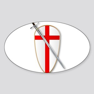 Crusaders Shield and Sword Sticker
