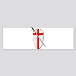 Crusaders Shield and Sword Bumper Sticker