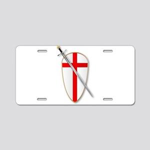 Crusaders Shield and Sword Aluminum License Plate