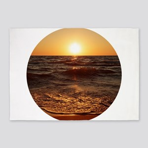 Lake Michigan Sunset 5'x7'Area Rug