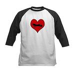 I heart Fly Kids Baseball Jersey
