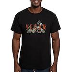 Vegan for the animals Men's Fitted T-Shirt (dark)