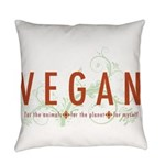 Vegan for the animals Everyday Pillow