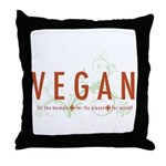 Vegan for the animals Throw Pillow