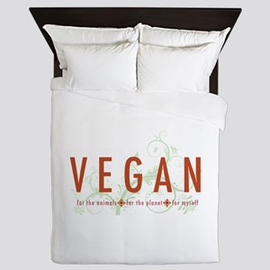 Vegan for the animals Queen Duvet