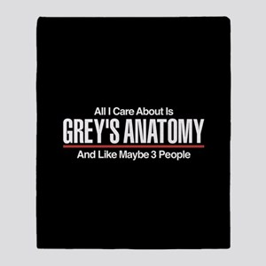 Grey's Care About Maybe 3 People Throw Blanket