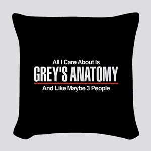 Grey's Care About Maybe 3 Peop Woven Throw Pillow