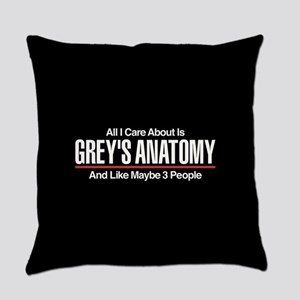 Grey's Care About Maybe 3 People Everyday Pillow