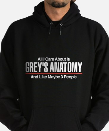 Grey's Care About Maybe 3 People Hoodie (dark)