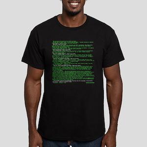 Hackers Manifesto Black Shirt T-Shirt