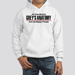 Grey's Care About Maybe 3 People Hooded Sweatshirt