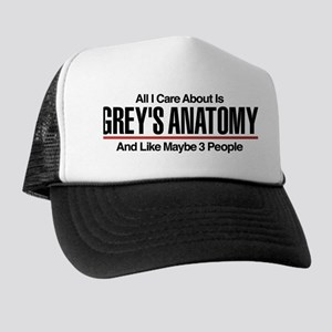 Grey's Care About Maybe 3 People Trucker Hat