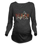 Vegan for the animal Long Sleeve Maternity T-Shirt