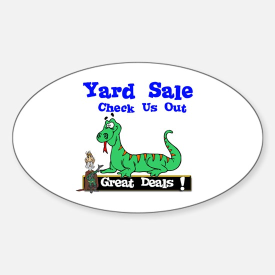 Great Deals Yard Sale. Oval Decal