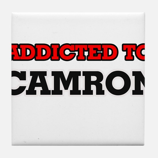 Addicted to Camron Tile Coaster