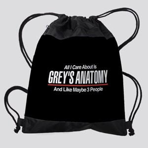 Grey's Care About Maybe 3 People Drawstring Bag