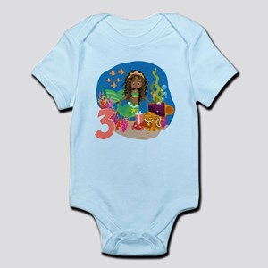 Mermaid 3rd Birthday Body Suit