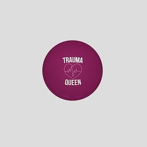 Trauma Queen Mini Button