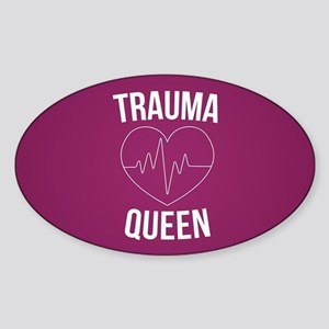 Trauma Queen Sticker (Oval)