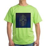 39.chartre labyrinth.. Green T-Shirt