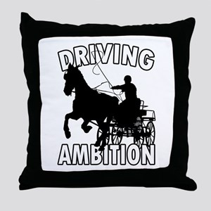 Driving Ambition Throw Pillow
