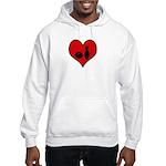 I heart Bowling Hooded Sweatshirt
