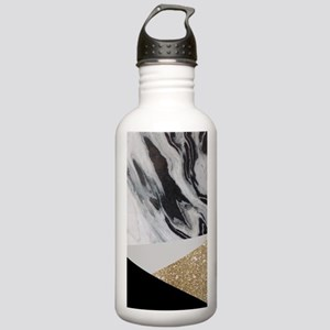 Geometric gold glitter Stainless Water Bottle 1.0L