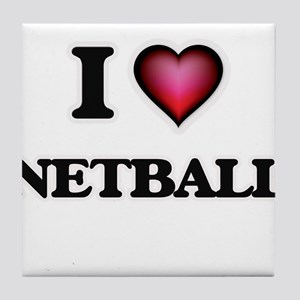 I Love Netball Tile Coaster