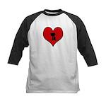 I heart BBQ Kids Baseball Jersey