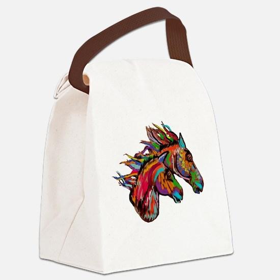 Unique American paint horse Canvas Lunch Bag