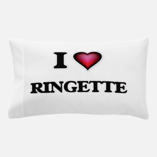 I Love Ringette Pillow Case