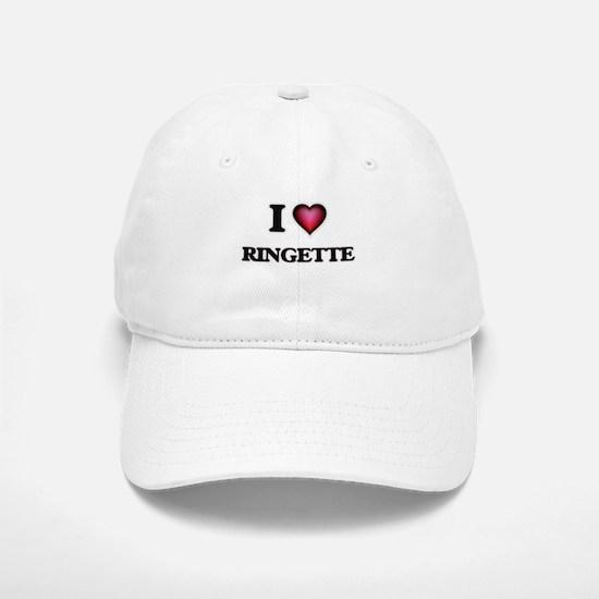 I Love Ringette Baseball Baseball Cap
