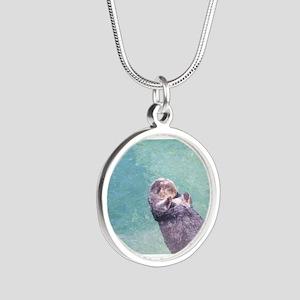 Sleeping Sea Otter Necklaces