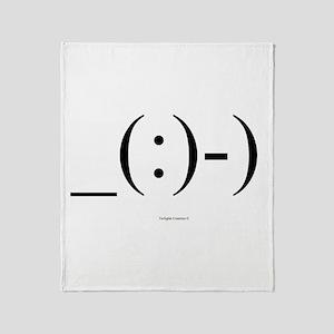 Suba Diver Emoticon Throw Blanket