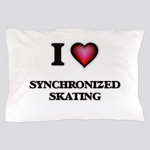 I Love Synchronized Skating Pillow Case