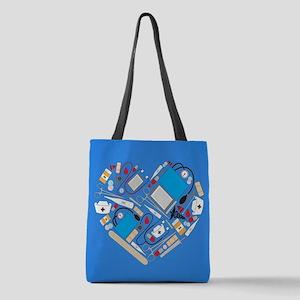Nursing Tools Heart Polyester Tote Bag