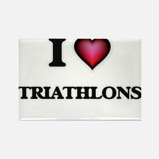 I Love Triathlons Magnets