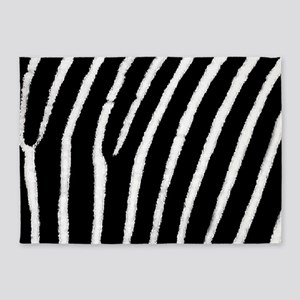 Zebra Print 5'x7'Area Rug