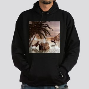 Funny playing dolphin Hoodie