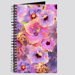 Tropical Hibiscus -seamless patterns Journal