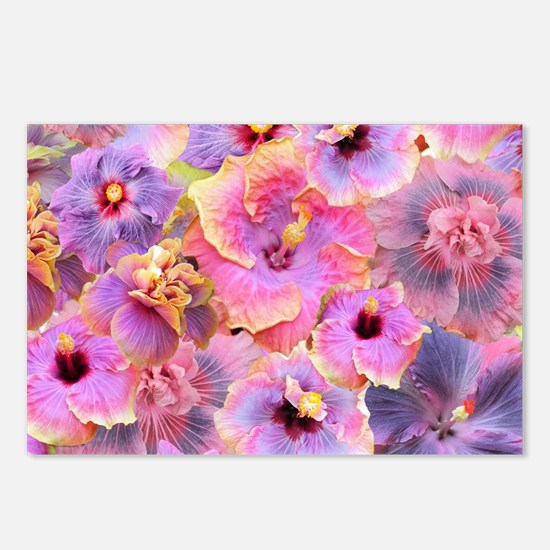 Tropical Hibiscus -seamle Postcards (Package of 8)